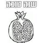 דפי צביעה ראש השנה רימון