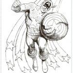 קפטן אמריקה דפי צביעה