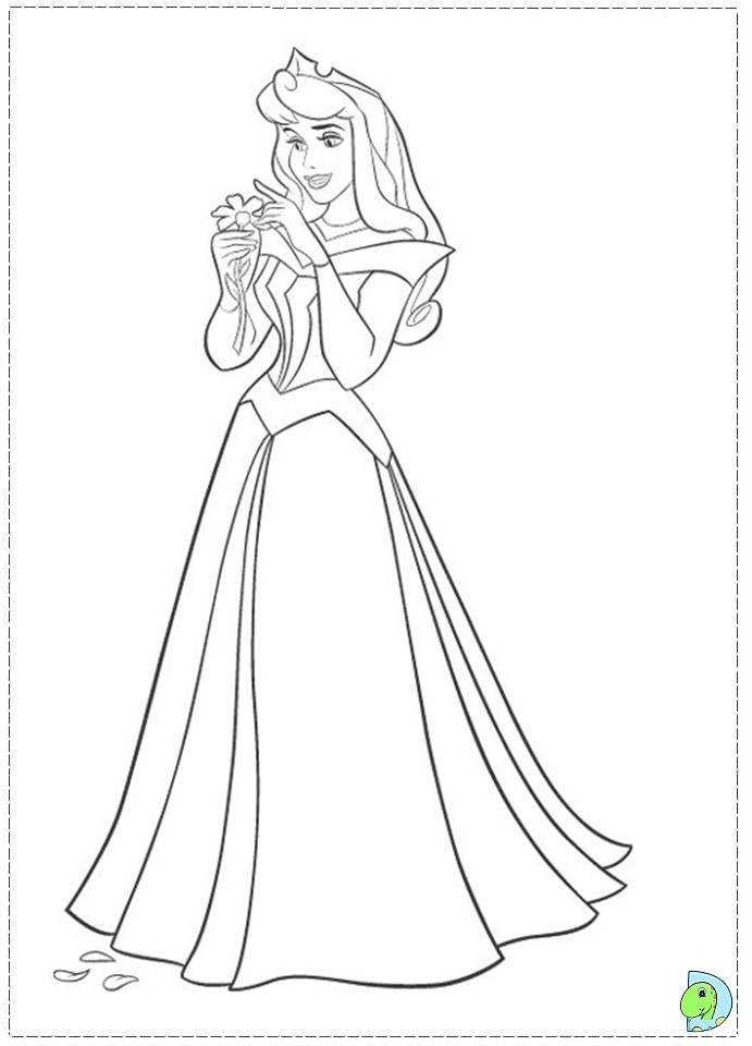 Princess Aurora Sleeping Coloring Page