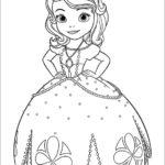 דפי צביעה הנסיכה סופיה הראשונה