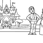 דפי צביעה נלה הנסיכה האבירה