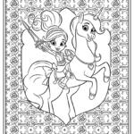 דפי צביעה נלה הנסיכה האבירה עם חד קרן