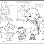 דפי צביעה דוק רופאת צעצועים
