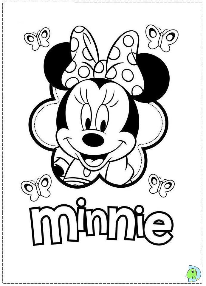 42 for Minnie mouse coloring page