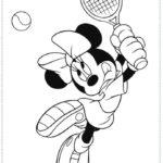 דפי צביעה מיני מאוס משחקת טניס