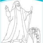 דפי צביעה משה רבינו
