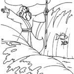 דפי צביעה משה רבינו חוצה את ים סוף