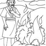 דפי צביעה משה רבינו והסנה הבוער