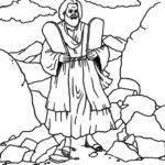דפי צביעה משה רבינו ועשרת הדברות