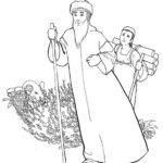 דפי צביעה אברהם אבינו ויצחק