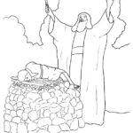 דפי צביעה עקדת יצחק