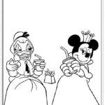 דפי צביעה מיני מאוס נסיכה ודייזי דאק נסיכה
