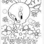 דפי צביעה טוויטי פרחים ופרפרים