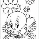 דפי צביעה טוויטי תינוק פרחים