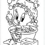 טוויטי תינוק אמבטיה לצביעה