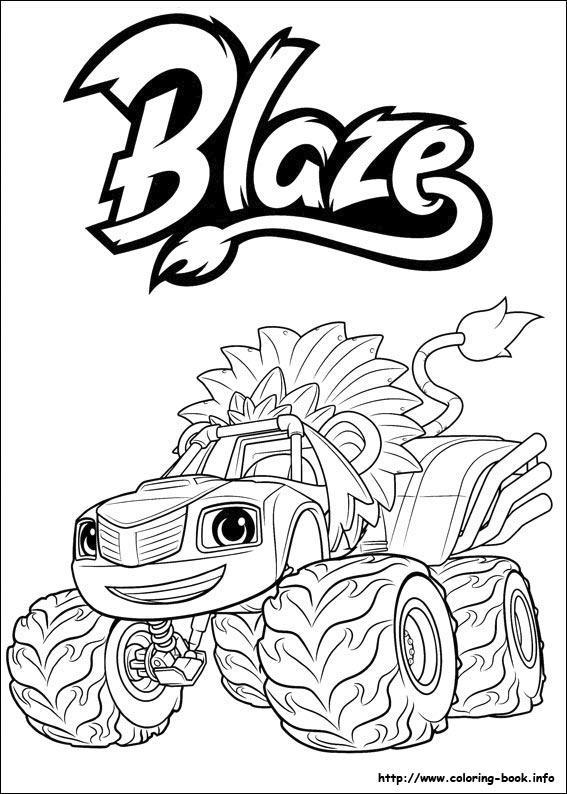 for Blaze e le mega macchine da colorare