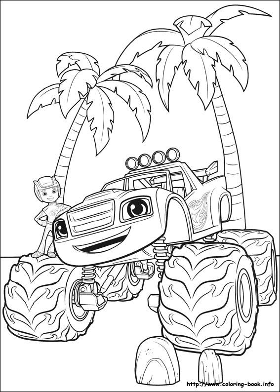 Blaze Monster Truck Kleurplaat Malvorlagen Blaze Und Die Monster