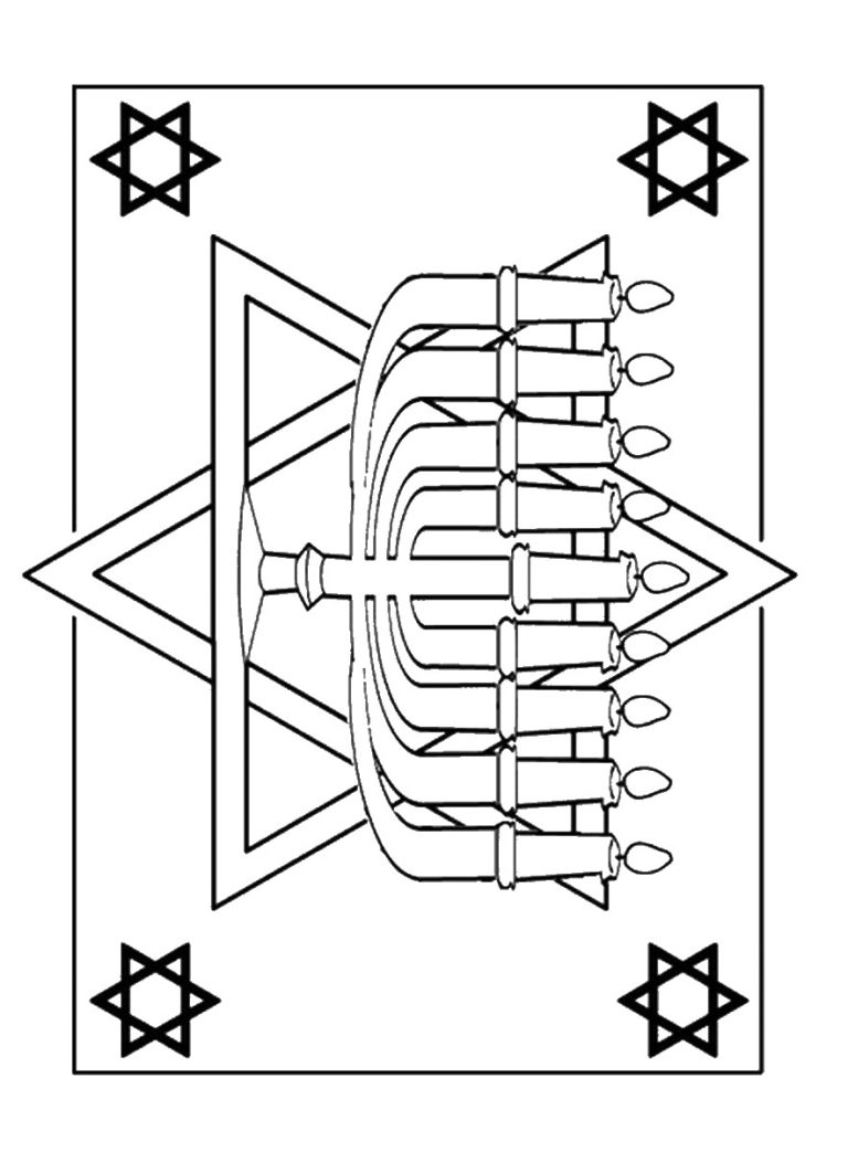 All about Hanukkah Menorah Coloring Page Free Printable Coloring ...