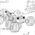 בלייז ומכוניות הענק דפי צביעה