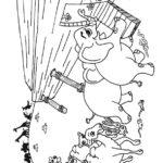 דפי צביעה החיות עולות לתיבת נח