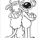 דפי צביעה חיות כבשה וכלב