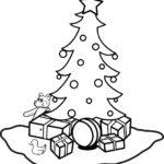 דפי צביעה עץ חג מולד