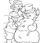 דפי צביעה אישה שלג