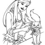 דפי צביעה ברבי וחתול