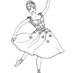 דפי צביעה ברבי רקדנית