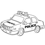 דפי צביעה אוטו משטרה