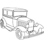 מכוניות דפי צביעה