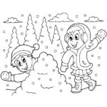 דפי צביעה שלג