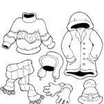 דפי צביעה בגדי חורף